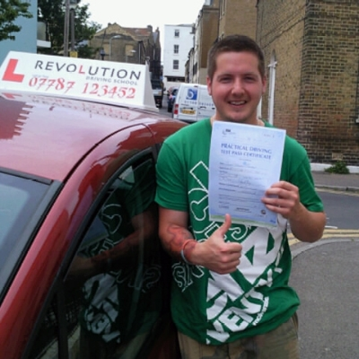 Image of Alex Goreman with pass certificate - Revolution Driving School