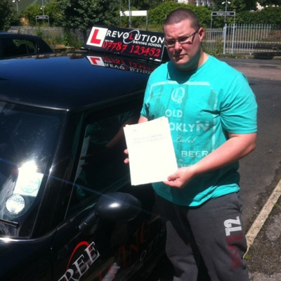 Image of Andrew Friend with pass certificate - Revolution Driving School