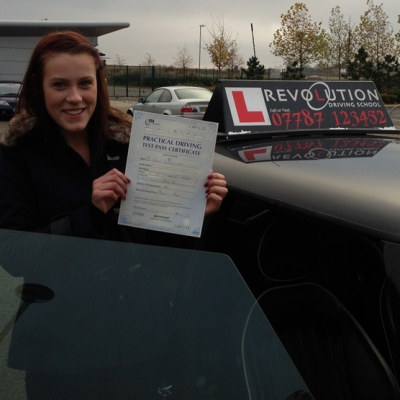 Image of Beatrice Evans with pass certificate - Revolution Driving School
