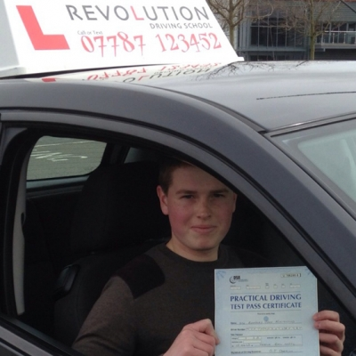 Image of Bradley Northwood with pass certificate - Revolution Driving School