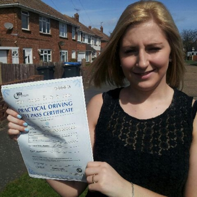 Image of Demi Swan with pass certificate - Revolution Driving School