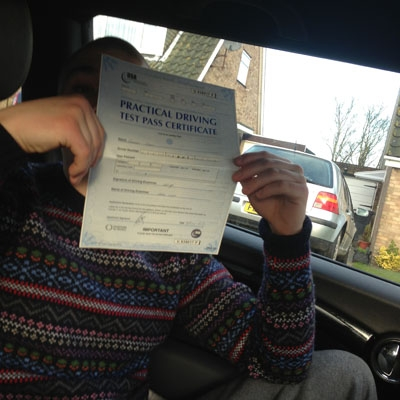 Image of George Grey with pass certificate - Revolution Driving School