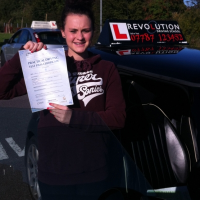 Image of Georgia Hayward with pass certificate - Revolution Driving School