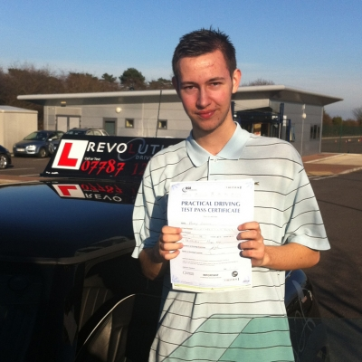 Image of Harry Ashton with pass certificate - Revolution Driving School