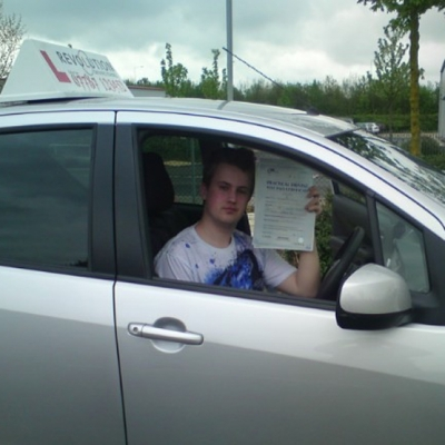 Image of James Davies with pass certificate - Revolution Driving School