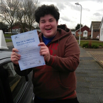 Image of Josh Williamson with pass certificate - Revolution Driving School