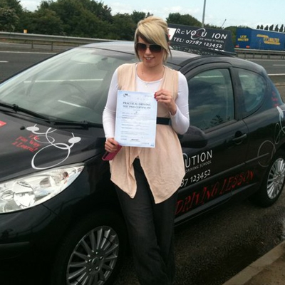 Image of Leah Boroweic with pass certificate - Revolution Driving School