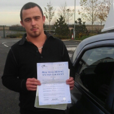 Image of Matt Courbot with pass certificate - Revolution Driving School