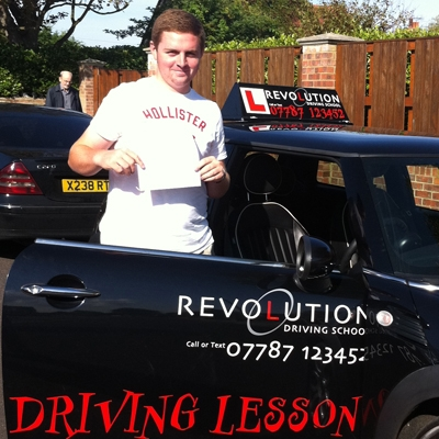 Image of Max Orrin with pass certificate - Revolution Driving School