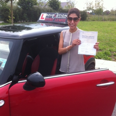 Image of Miriam Ashford with pass certificate - Revolution Driving School