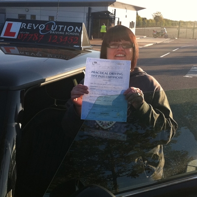 Image of Nadine Wood with pass certificate - Revolution Driving School