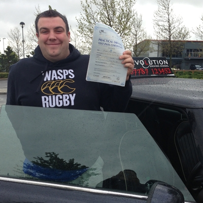 Image of Richard Harrop with pass certificate - Revolution Driving School