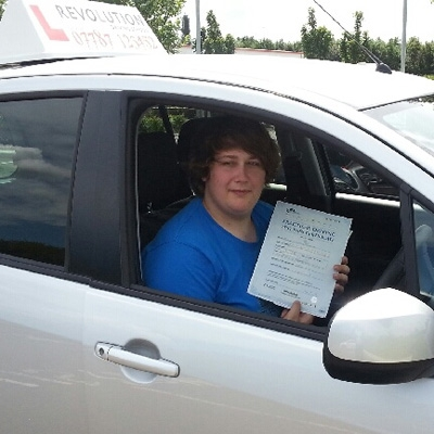 Image of Sam Graham with pass certificate - Revolution Driving School
