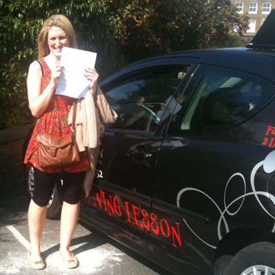 Image of Sam Krimgoltz with pass certificate - Revolution Driving School