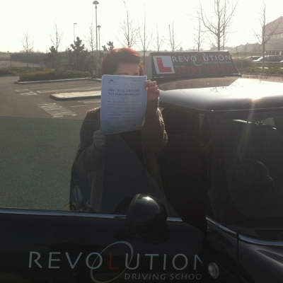 Image of Sam Palmer with pass certificate - Revolution Driving School