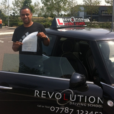 Image of Steven Martin with pass certificate - Revolution Driving School