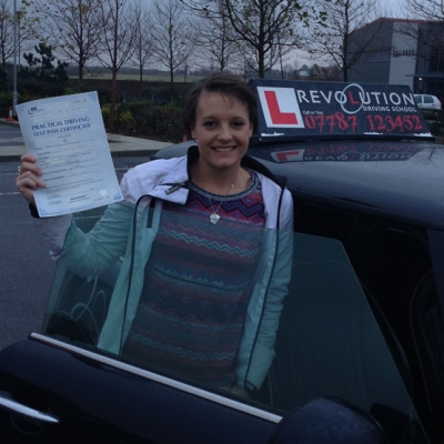 Image of Tara Mannings with pass certificate - Revolution Driving School