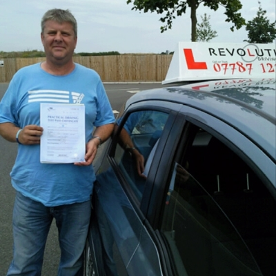 Image of William Epps with pass certificate - Revolution Driving School